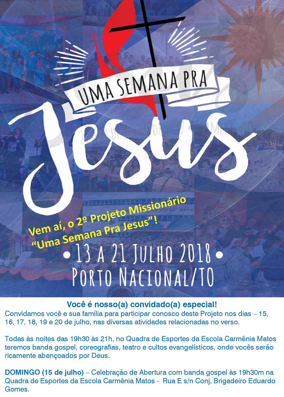 Uma Semana Para Jesus  Porto Nacional recebe quase 500 missionários ... 2f043b1595e3c