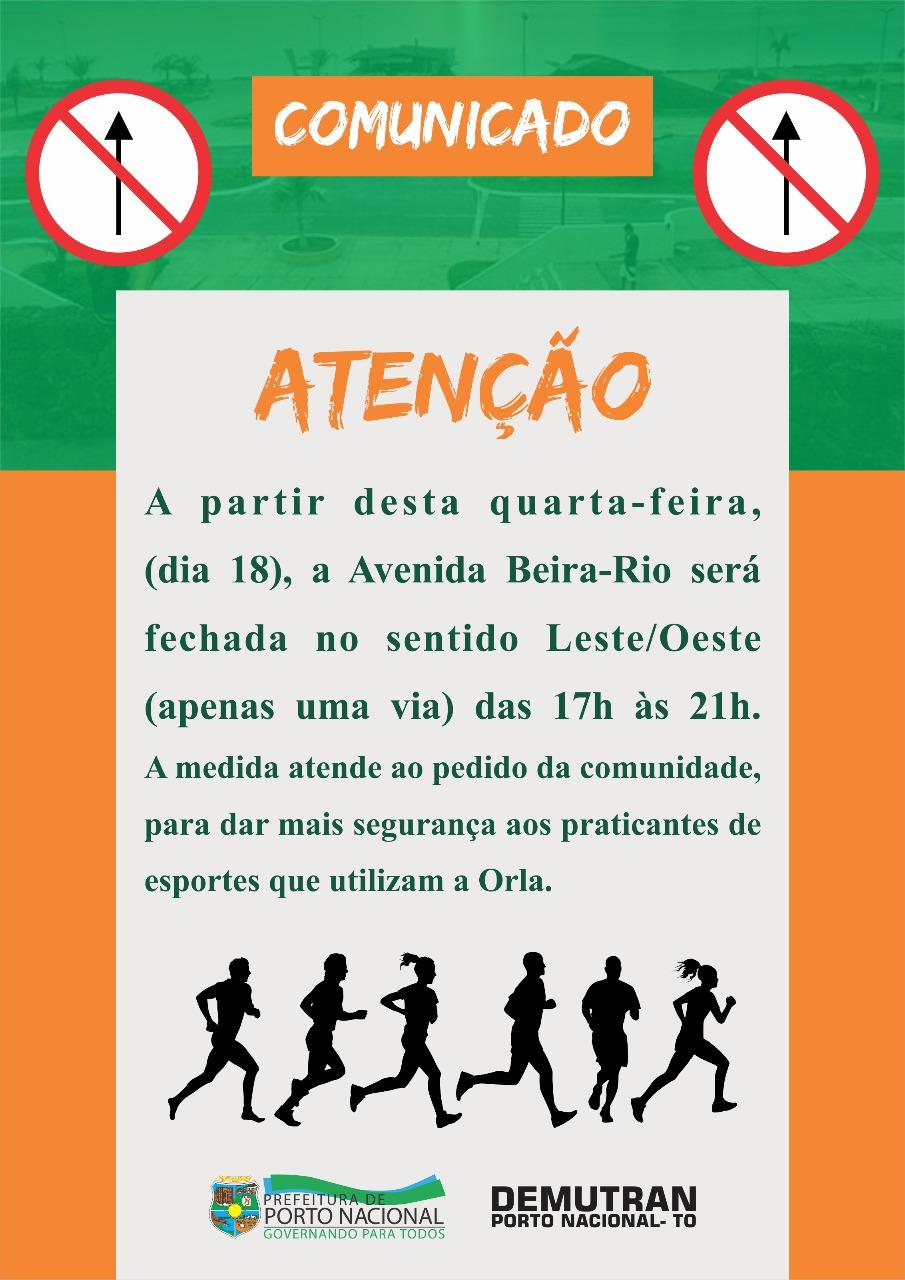 Para maior segurança às famílias e esportistas Avenida Beira Rio na Orla de  Porto Nacional terá fe771ec5423cf